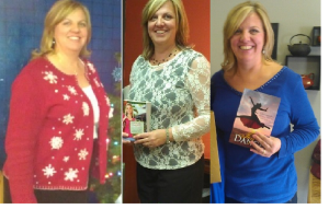 Progression of weight loss from pictures taken at three consecutive writer events: 11-28-12, 12-3-12, 12-29-12