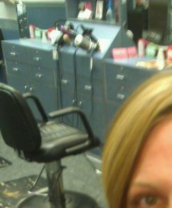 at Sarah's salon