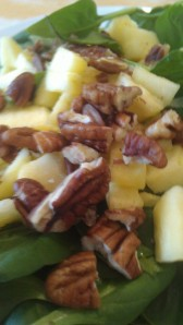 pecan, apples spinach