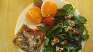 pizza portion salad tangelo 3