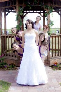 Sarah and bridesmaids