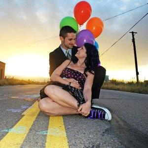 Sarah and David balloons