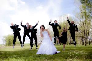 sarah and groomsmen - fun! 1
