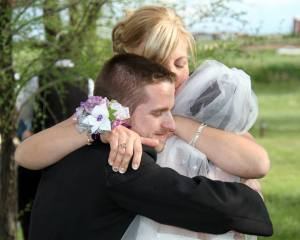 mom hugging s and d